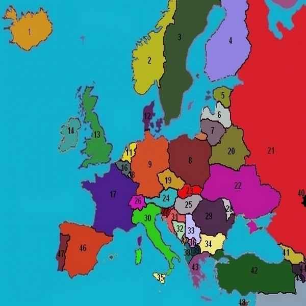 Carte De Leurope Avec Ses Capitales.Pays Europe Information Complete Sur Les 50 Pays D Europe